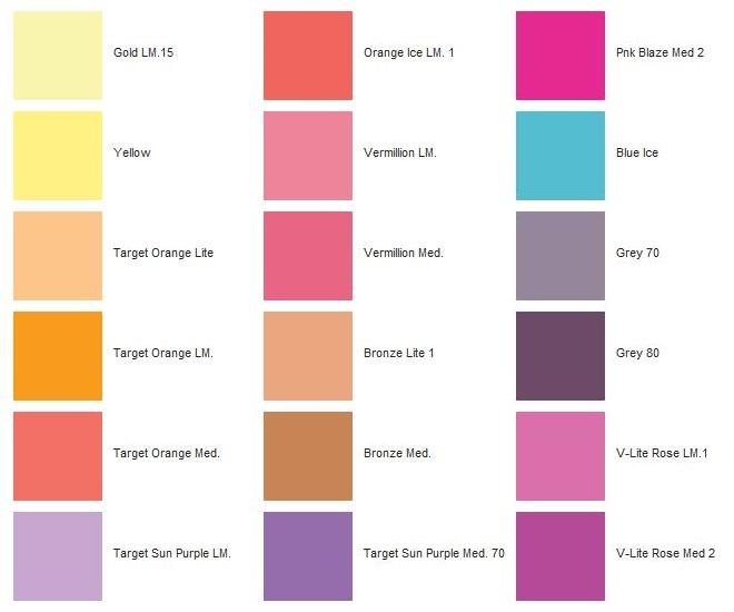 Tavola Colori Filtri Decot